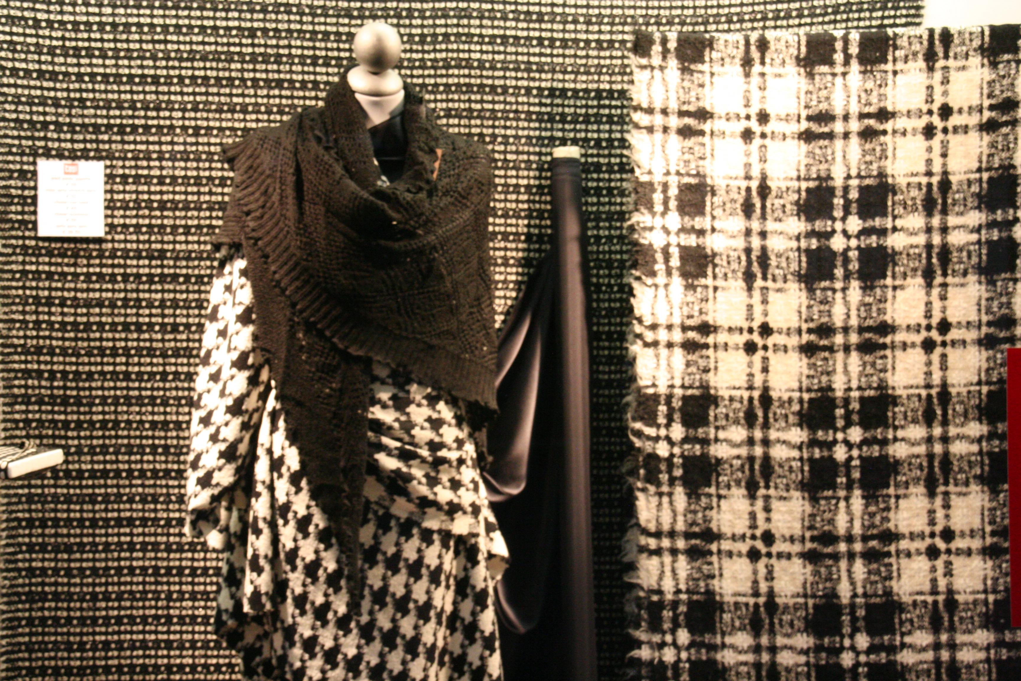 tessuti per abbigliamento lanerie bianco e nero
